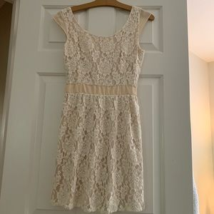 American Eagle cream lace dress with open back